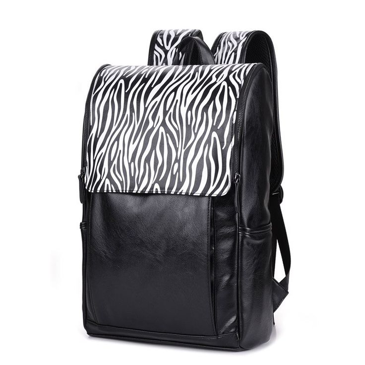2017 men shoulder bag back school students bags leather backpack women vintage b…