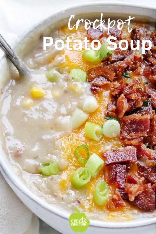Crockpot Potato Soup Recipe Healthy Lunch Box Recipes