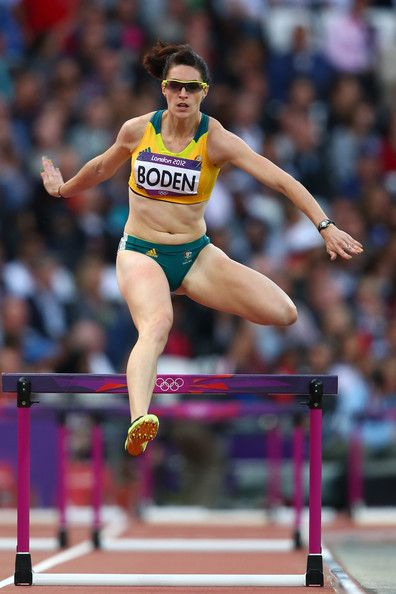 Lauren Boden of Australia competes in the Women's 400m Hurdles Round 1 Heats on Day 9 of the London 2012 Olympic Games at the Olympic Stadium on August 5, 2012 in London, England.