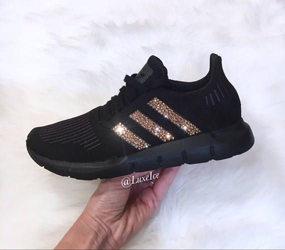 Adidas Swift Run customized with Rose Gold SWAROVSKI® Xirius e98dad7843ca