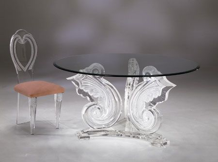 SPECTACULAR ROUND DINETTE TABLE BASE By Shahrooz Shahrooz Art.com    #AcrylicFurniture,
