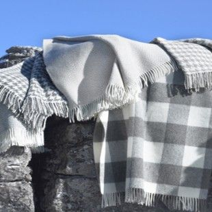 Bronte Natural Pure New Wool Throws
