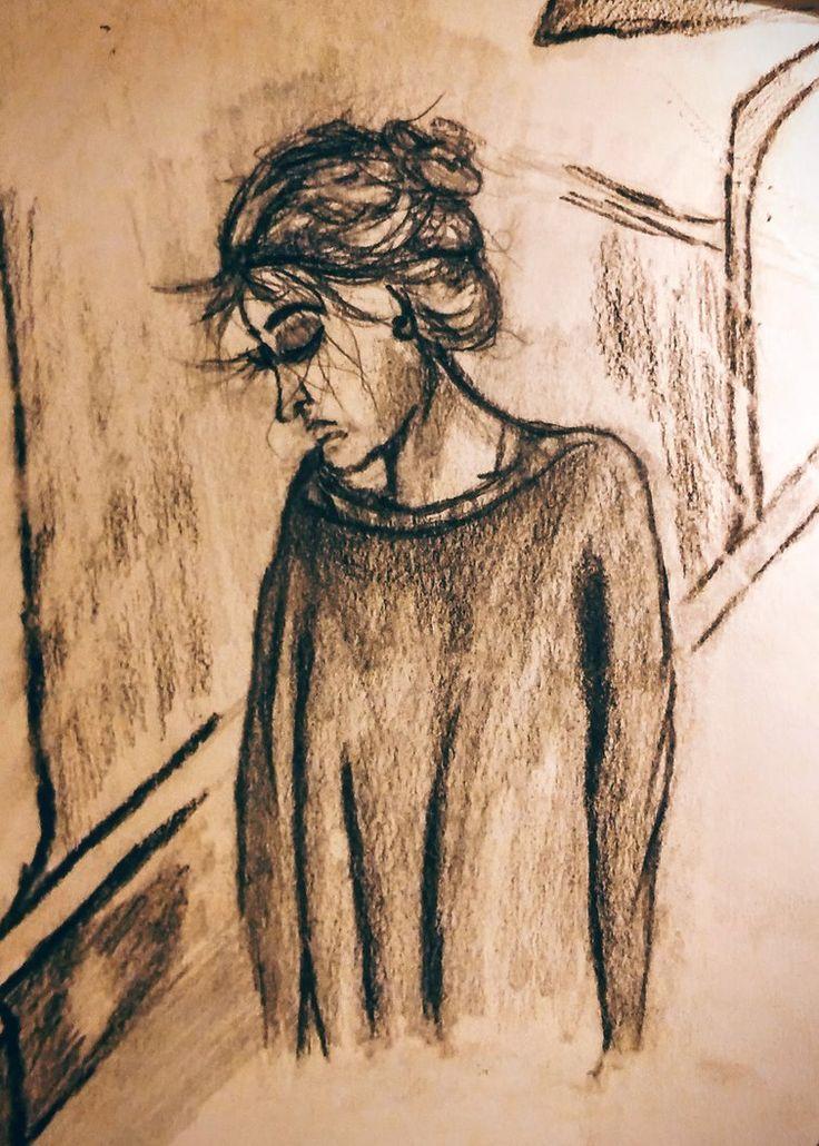 Girl drawing. by MagdalenaaM.deviantart.com on @DeviantArt #pencildrawing #girl #woman #facefascinate
