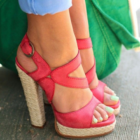 So cute!: Fashion, Style, Color, Summer Shoes, Summer Heels, Closet, High Heels, Shoes Shoes Shoes