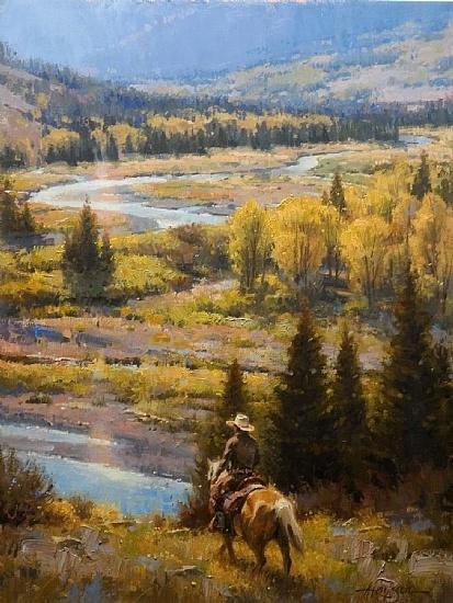 Cowboy Payday by Steve Atkinson Oil ~ 24 x 18
