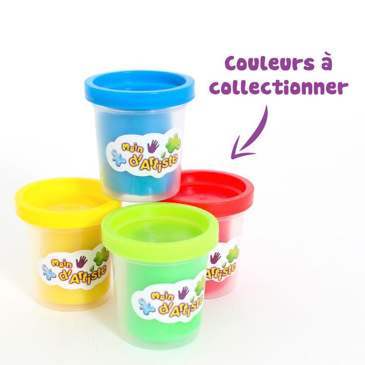 Pâtes à modeler à collectionner #Maind'Artiste #MGM colorées et vendues dans des petits pots avec des moules en forme d'animaux !