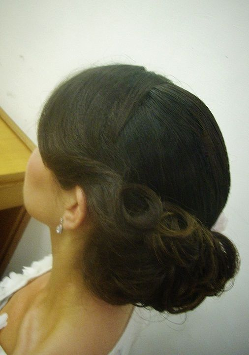 vintage hairstyle for weddings by Janita Helova Rome, italy  http://janitahelova.com/