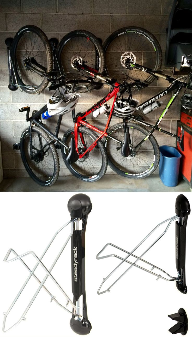 This handy storage unit is a great idea for hanging bikes in the shed, garage…