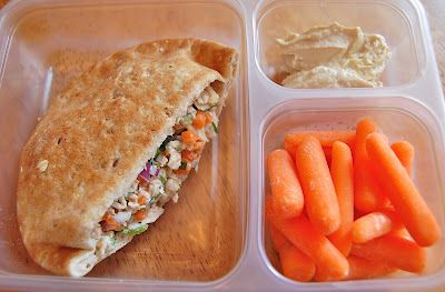 Healthy Lunch Ideas. I think I want some containers like these too- will help with portion control while at work!