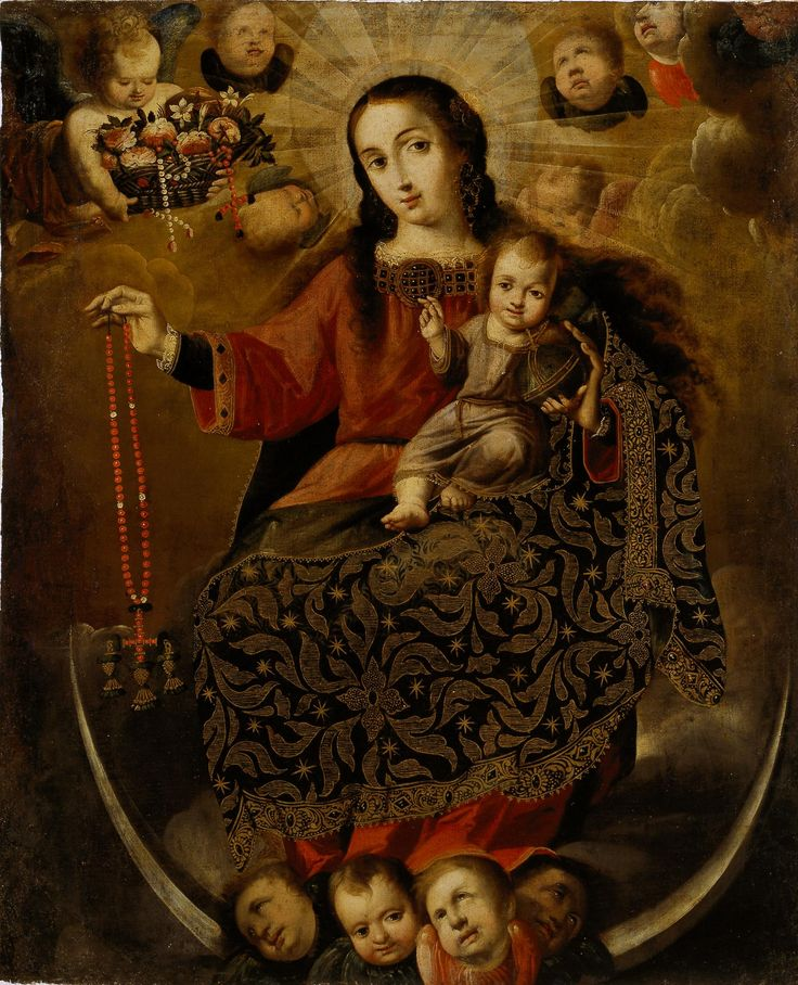 Virgin of the Rosary / Virgen del Rosario // Bolivia, late 17th–early 18th century // Melchor Pérez Holguín // © Dallas Museum of Art // #ChildJesus