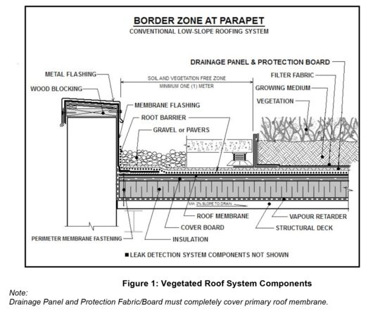 Green Parapet Roof Details Pinterest Terrace Green