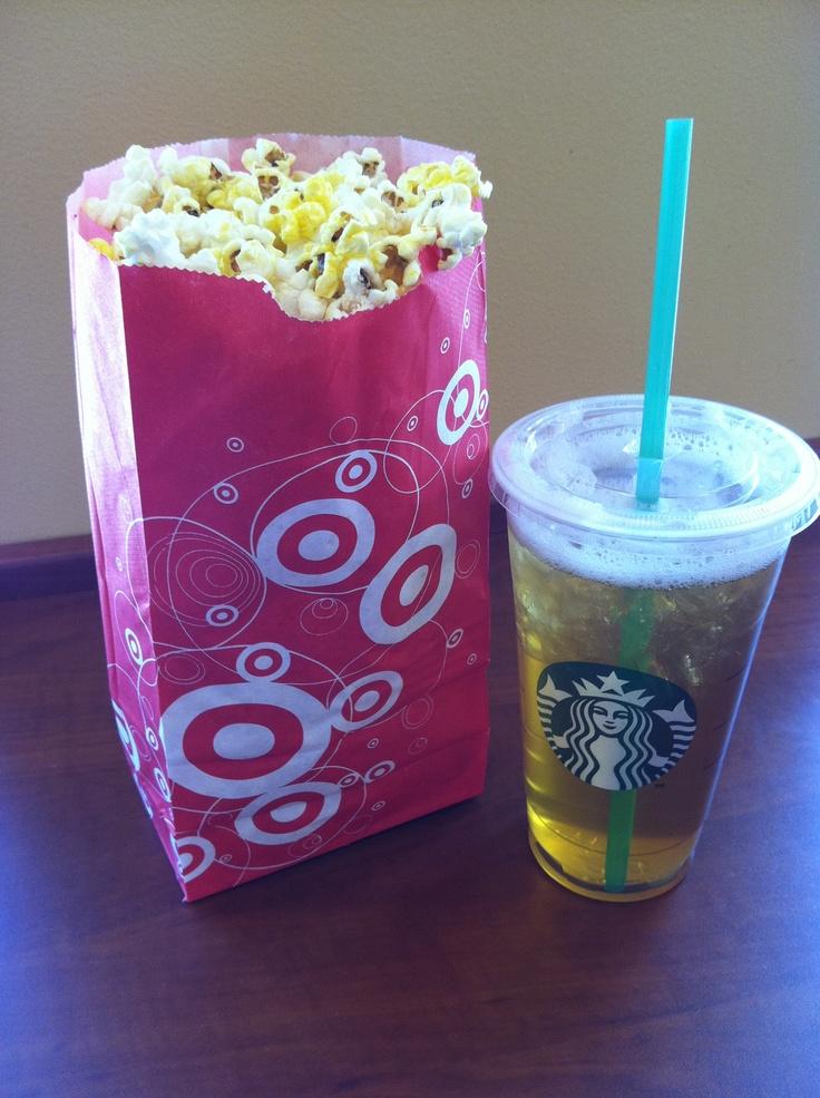 Hit the Target Starbucks- Get that dollar popcorn..life is GOOD!
