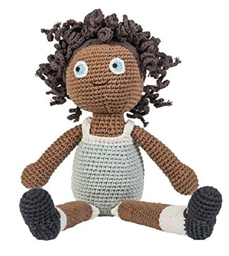 Puppe Lilly, handgearbeitete Häkelpuppe aus Baumwolle