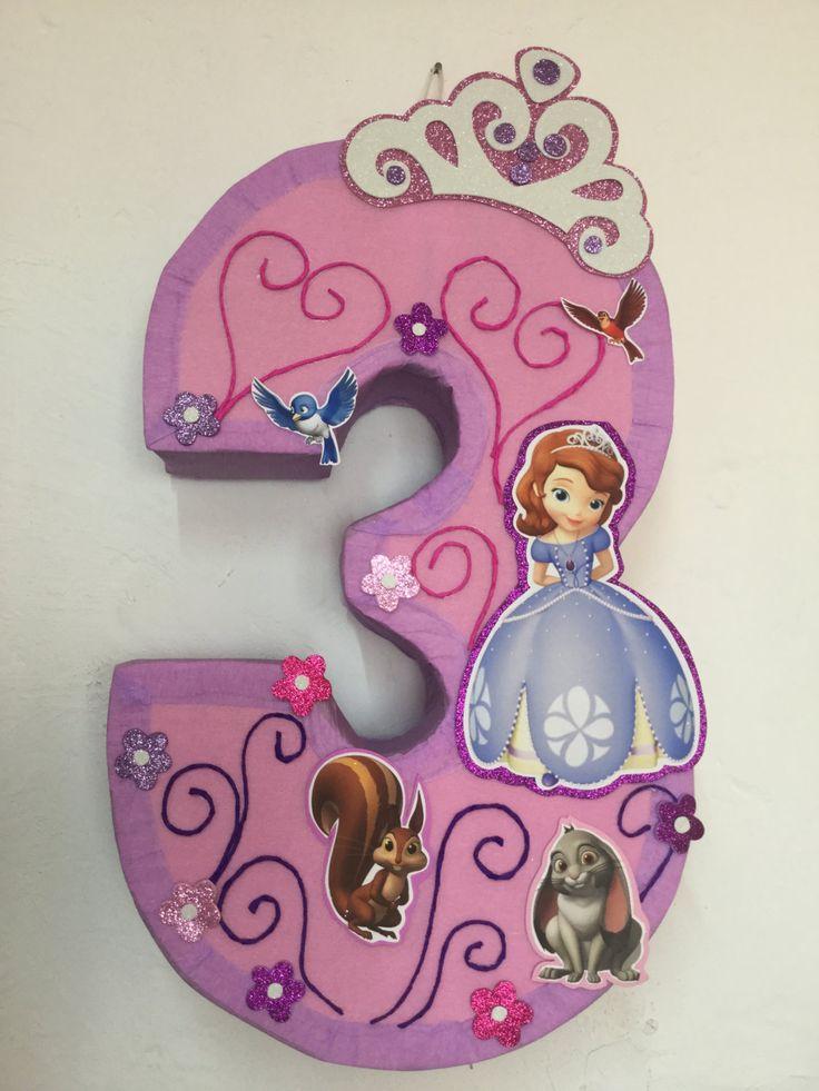 Piñata de la Princesa Sofia fiesta de la princesa por aldimyshop