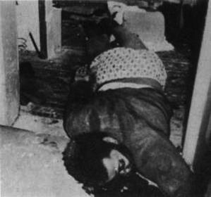 Body of Fred Hampton, national spokesman for the Black Panther Party, who was killed by members of the Chicago Police Department, as part of a COINTELPRO operation.[38][39]