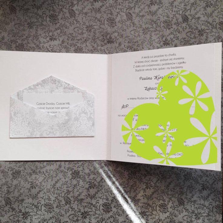 Zaproszenia - fajny pomysł na zaproszenie w środku na wesele