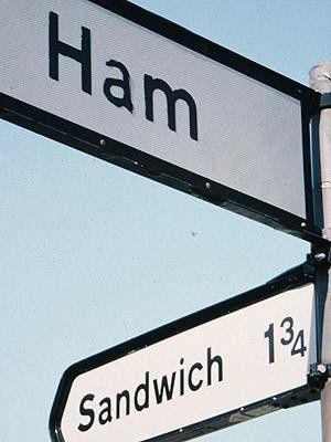 Een Sandwich met Ham in Engeland