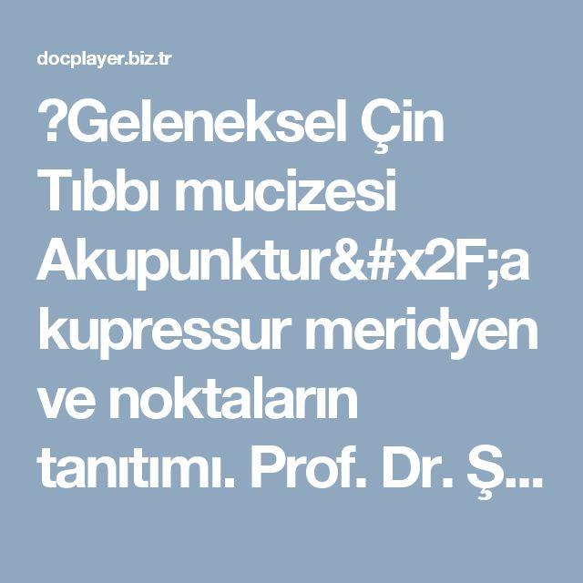 ⭐Geleneksel Çin Tıbbı mucizesi Akupunktur/akupressur meridyen ve noktaların tanıtımı. Prof. Dr. Şahin Ahmedov