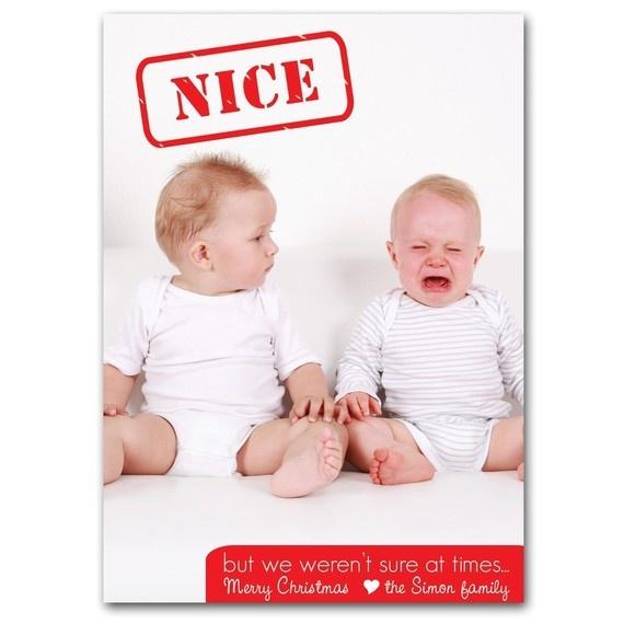 Christmas holiday photo card-custom digital file/ Naughty or Nice Design