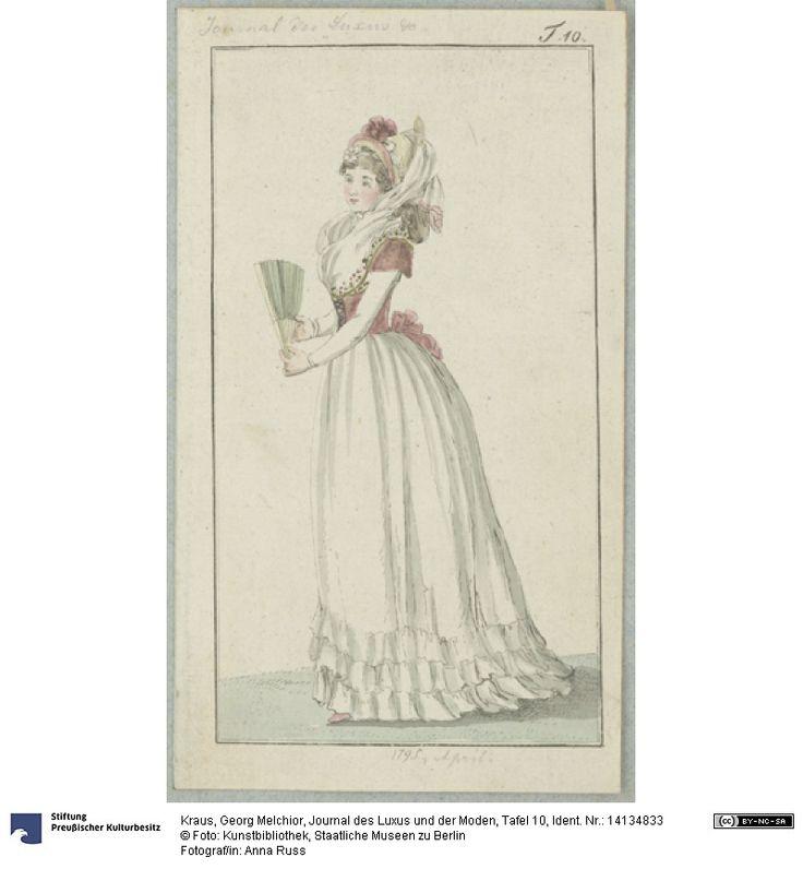 SMB-digital | Journal des Luxus und der Moden, Tafel 10, April, 1795.