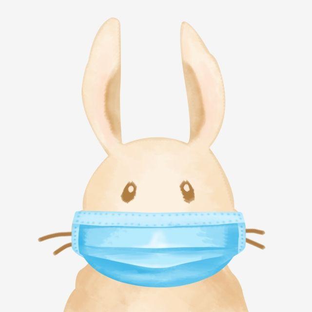Rabbit With Medical Mask Rabbit Medical Blue Png Transparent Clipart Image And Psd File For Free Download Medical Masks Rabbit Dog Sympathy Card