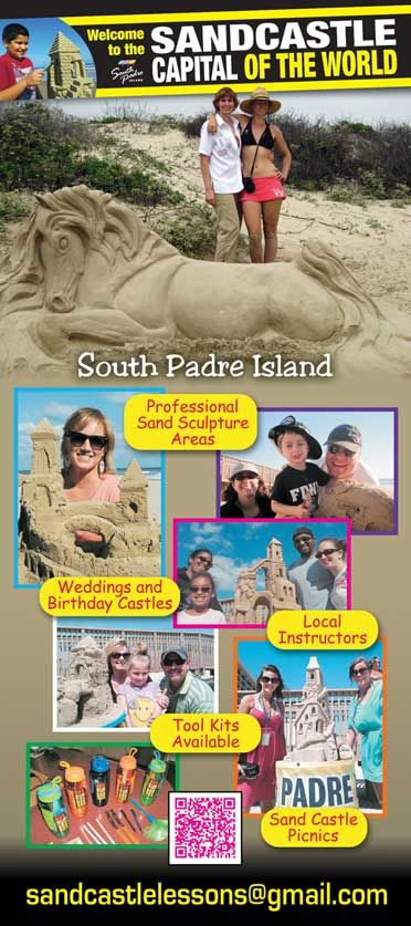 Sand Castle Lessons - South Padre Island, Texas - $80 per hour for groups - 2612 Gulf Blvd., South Padre Island, TX 78597