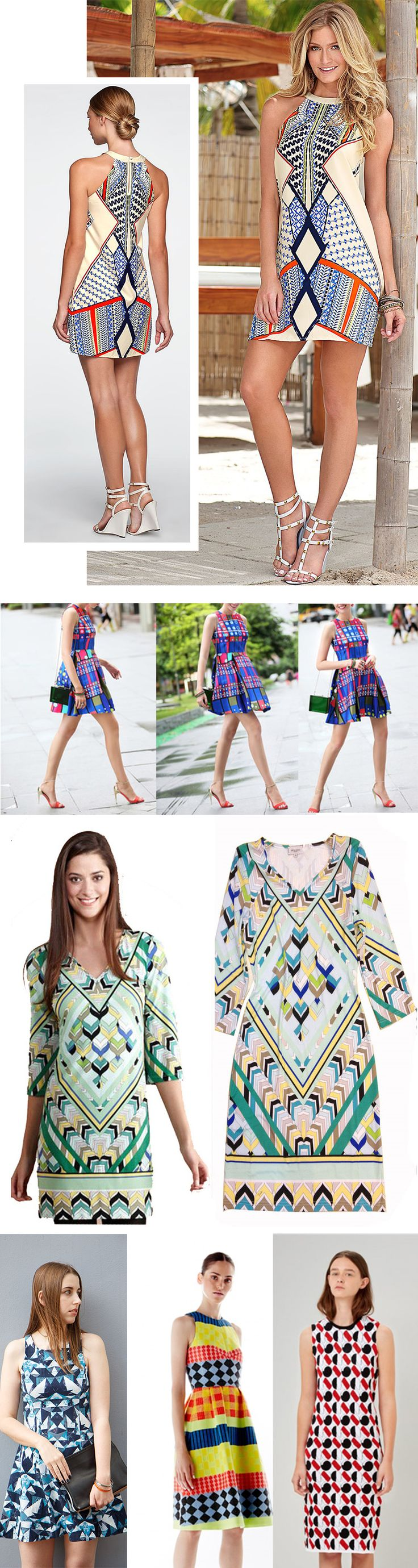 Stylish Women Geometric Print Dresses