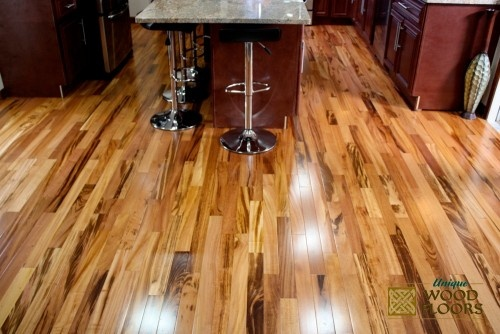 Tigerwood Brazilian Koa Modern Wood Flooring Furniture