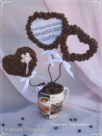 Поделка изделие Моделирование конструирование Немножко кофе   Клей Кофе Ленты фото 1