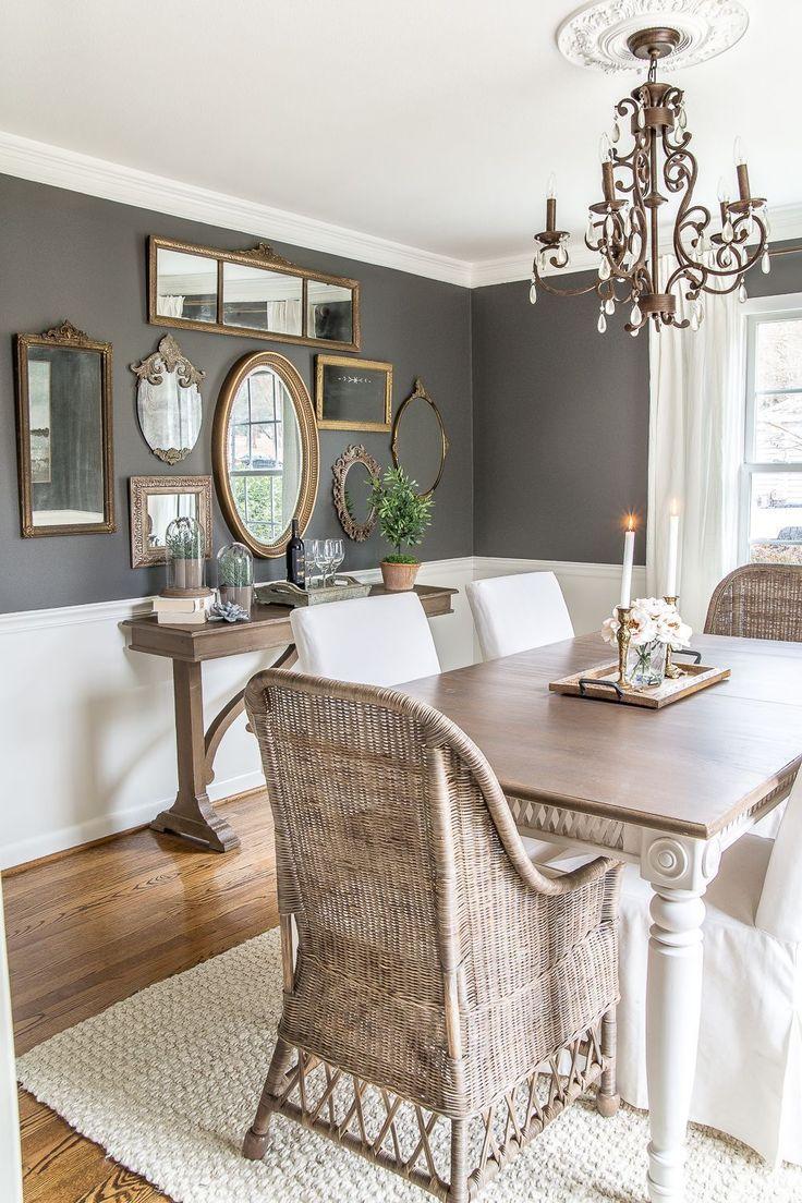 53 cool farmhouse dining room decor ideas in 2020