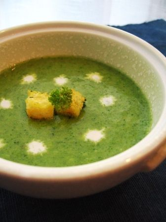 板前さんちの食育児-小松菜スープ