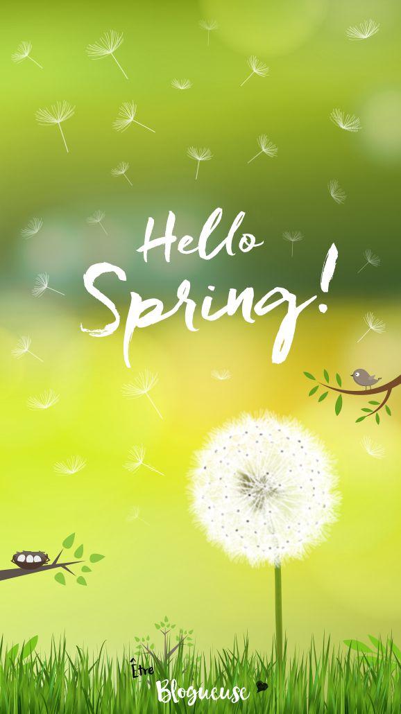 Fond d'écran iphone et tous modèles sur le thème du printemps et des fleurs. Hello Spring ! Wallpaper, créations.