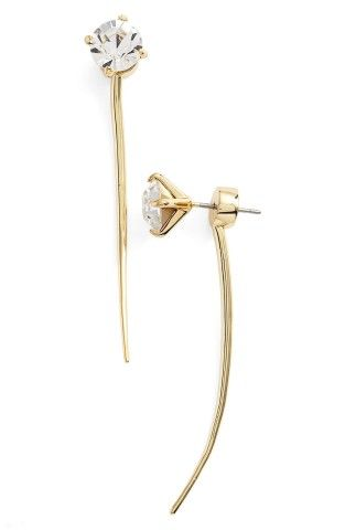 Covet Curved Drop Back Earrings | No