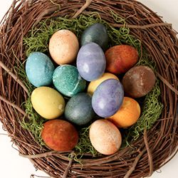 Use ingredients found in your pantry or fridge to create these colorful Easter eggs