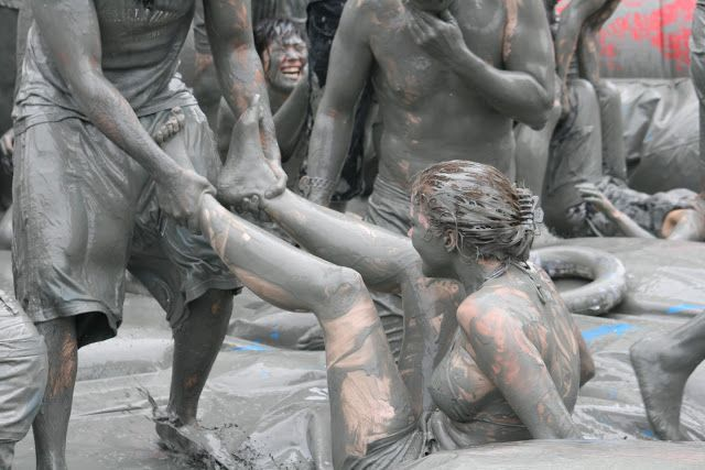 BORYEONG MUD FESTIVAL in July, Boryeong, South Korea