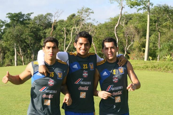 Manuel Viniegra, Alonso Zamora e Israel Jiménez - Pretemporada Clausura 2013.