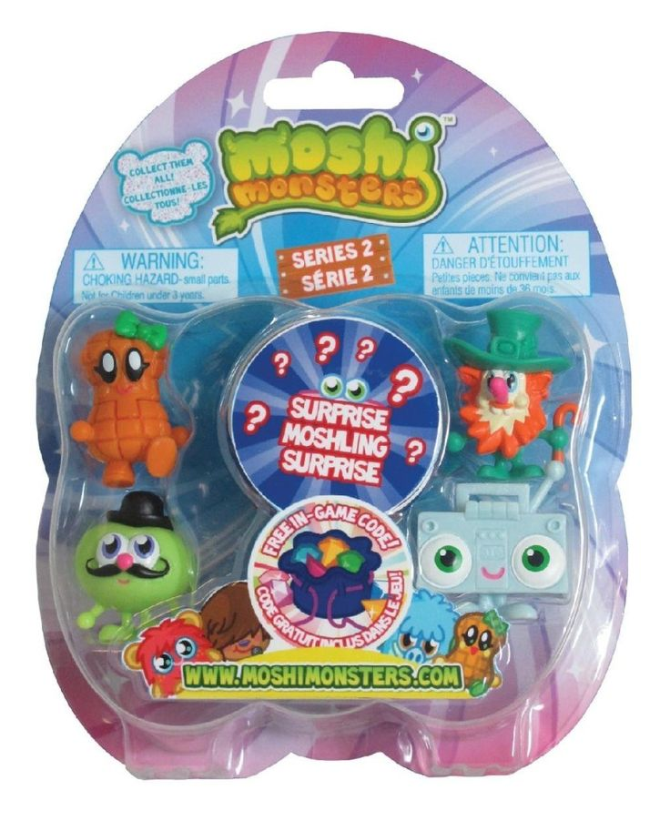 Moshi Monsters Toy  Each come with 5 highly detailed and adorable Mosh lings, one is hidden for an extra surprise