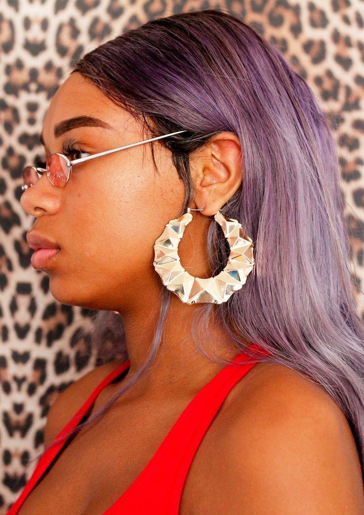 Door Knocker Earrings 90s : knocker, earrings, Knocker, Earrings