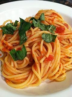 Spaghetti alla Rustica - eighteen dollars at a Manhattan restaurant - or ten dollar to make at home and serves 4