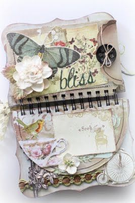 Really Cute Mini Album.... Love the shabby look and the envelope...: Albums Journ, Minis Books, Books Album, Minis Album, Mini Albums, Life Minibook, Scrapbook Minis, Scrapbooks Minis Journ, Scrapbook Album