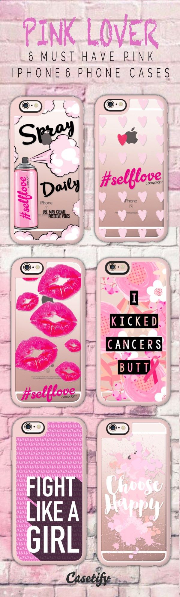6 must have pink iPhone 6 protective phone case designs | Click through to see more iphone phone case ideas >>> www.casetify.com/... #quote | Casetify