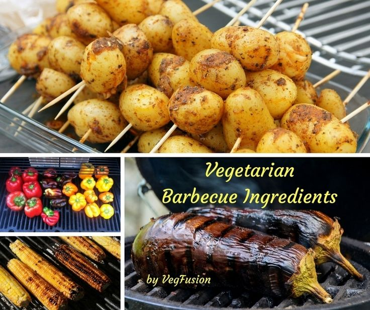"There is a vast range of ingredients suitable for a vegetarian barbecue. Most vegetables and some fruits can be barbecued, even salad leaves. Here, I have a list of commonly used vegetarian barbecue ingredients, starting from mock meats: 1. Mock Meats • Veggie burgers and patties • Veggie schnitzels like Quorn, Fry's or Suzy Spoon's... <div class=""link-more""><a href=""http://vegfusion.org/vegetarian-barbecue-ingredients/"">Read More&..."
