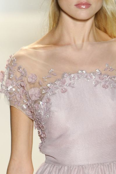 I love this style of the neckline for a wedding dress