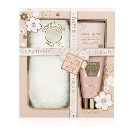 Baylis & Harding Peach, Rose & Vanilla Super Soft Socks Gift Set