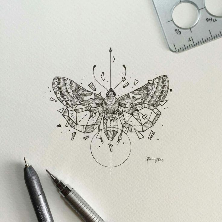Image result for insect tattoo geometric