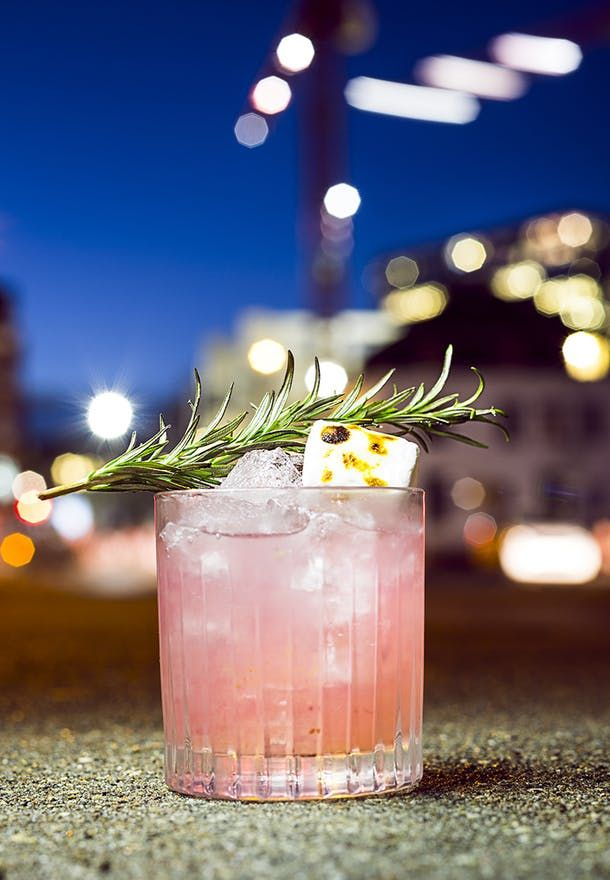 The Moment - This drink is both fruity and characteristic in the taste with spicy orange, rosemary and fresh, crushed blueberries.