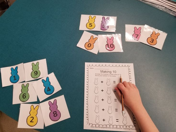 math centers, making 10, addition, Easter themed, addition