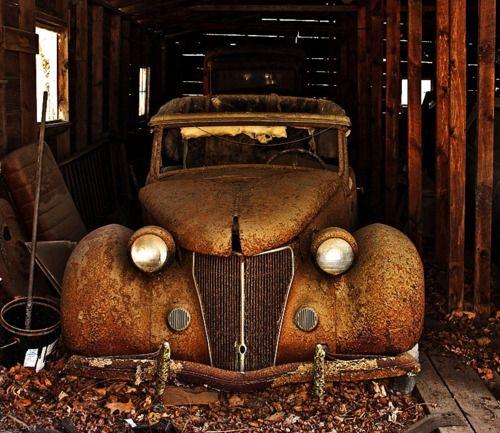 36 ford barn find old trucks pinterest for Motor city barn finds