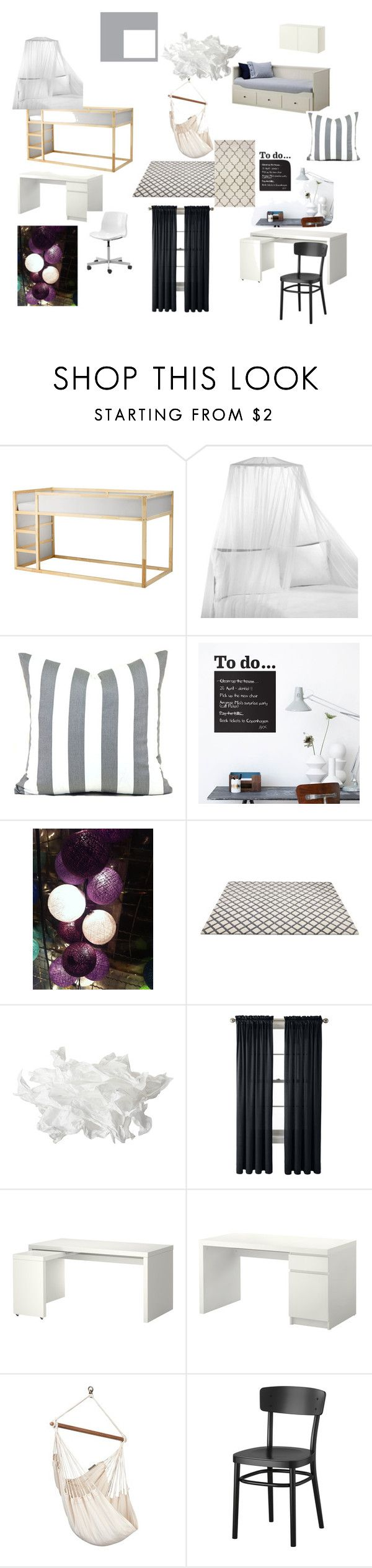 pokoj dziewczynek by magdalena-grycz on Polyvore featuring interior, interiors, interior design, dom, home decor, interior decorating, Home Decorators Collection, ferm LIVING and Royal Velvet