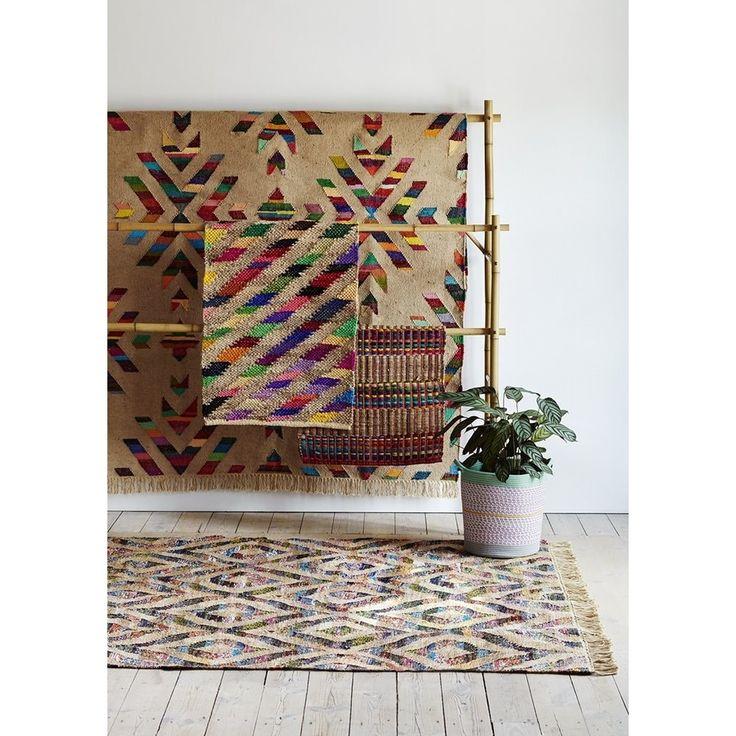 Rice Vloerkleed/Loper Jute Streep Multi - 65 x 150 cm